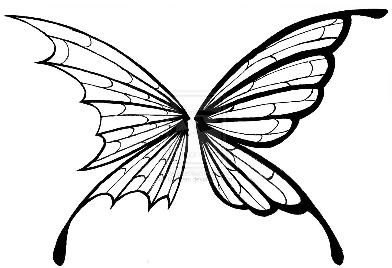 Simple Wings Drawing at GetDrawings | Free download