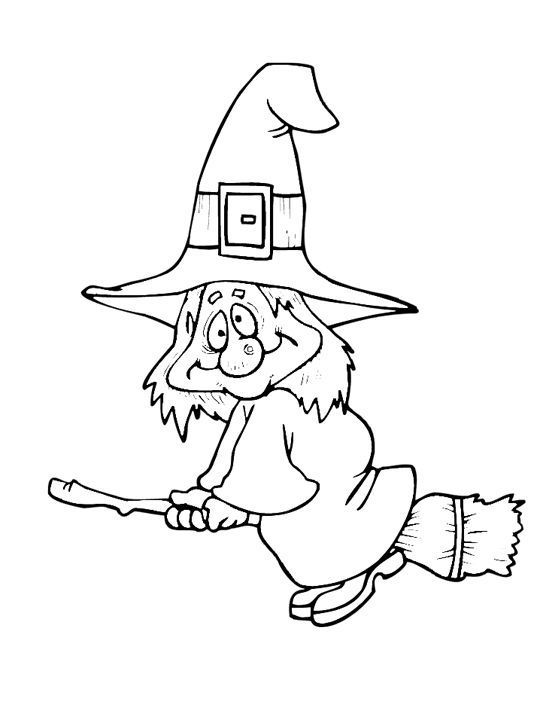 Simple Witch Drawing