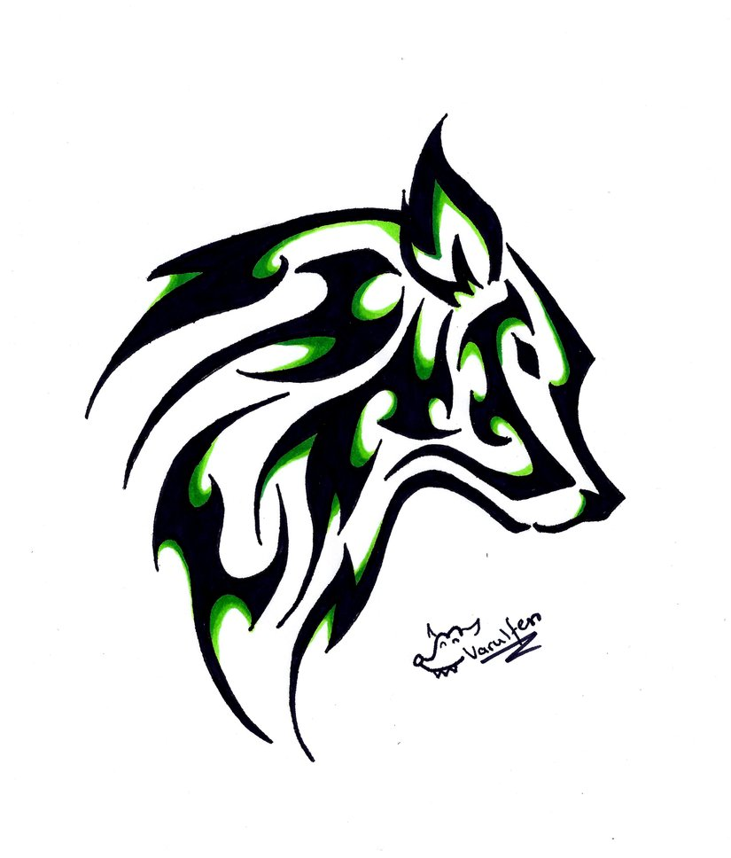 Simple Wolf Drawing