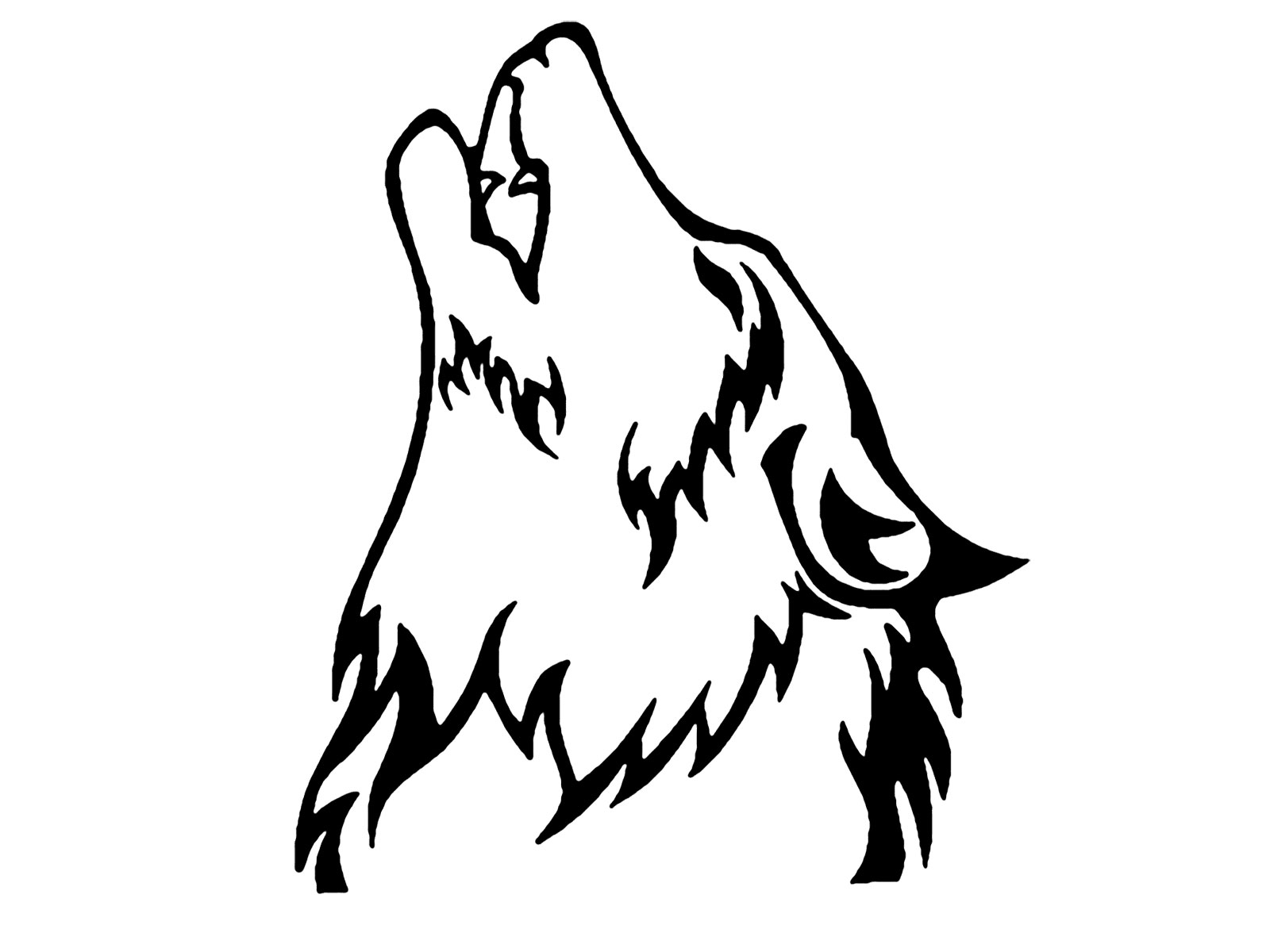 Simple Wolf Howling Drawing At Getdrawings