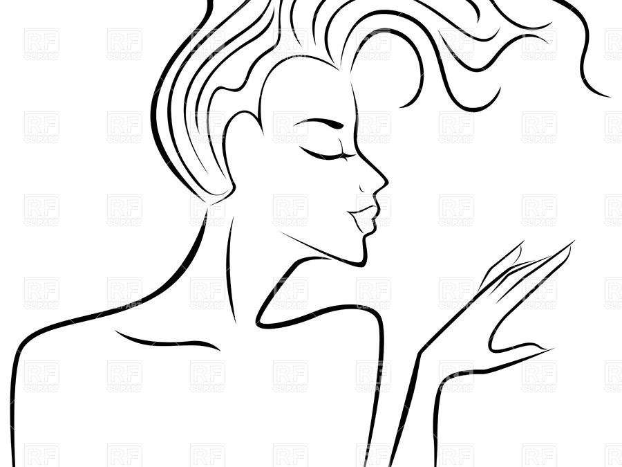900x675 Portrait Of Elegant Woman Flowing Hair