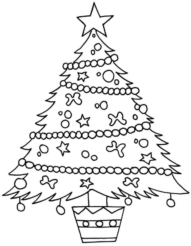 Simple Xmas Tree Drawing at GetDrawings