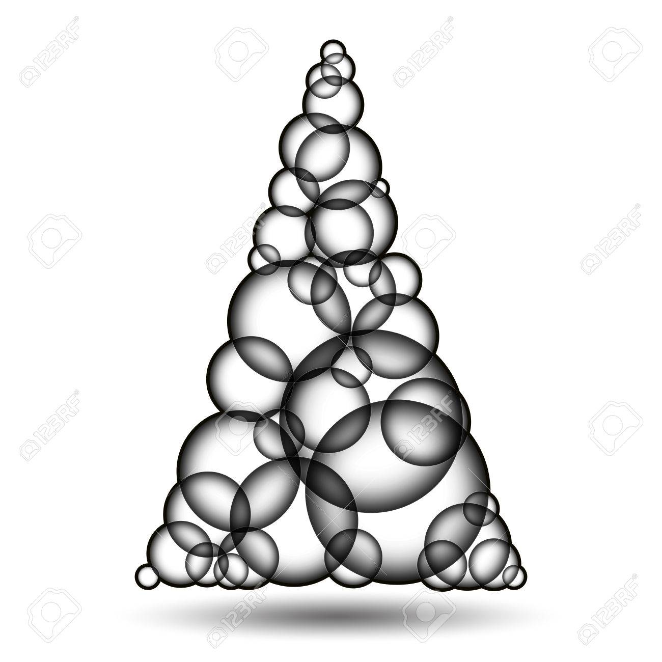 1300x1300 Simple Monochromatic Xmas Tree Made Form Bubbles. Christmas Tree