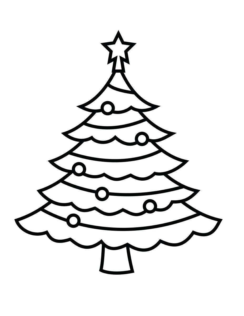 927x1200 Coloring Xmas Tree Coloring Pages Simple Christmas For Adults