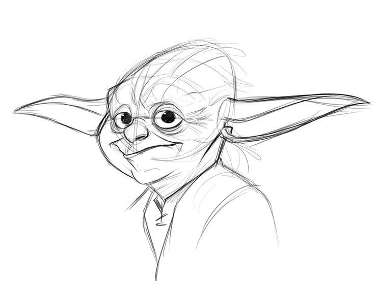 Yoda Line Drawing At Getdrawings Com Free For Personal Use Yoda