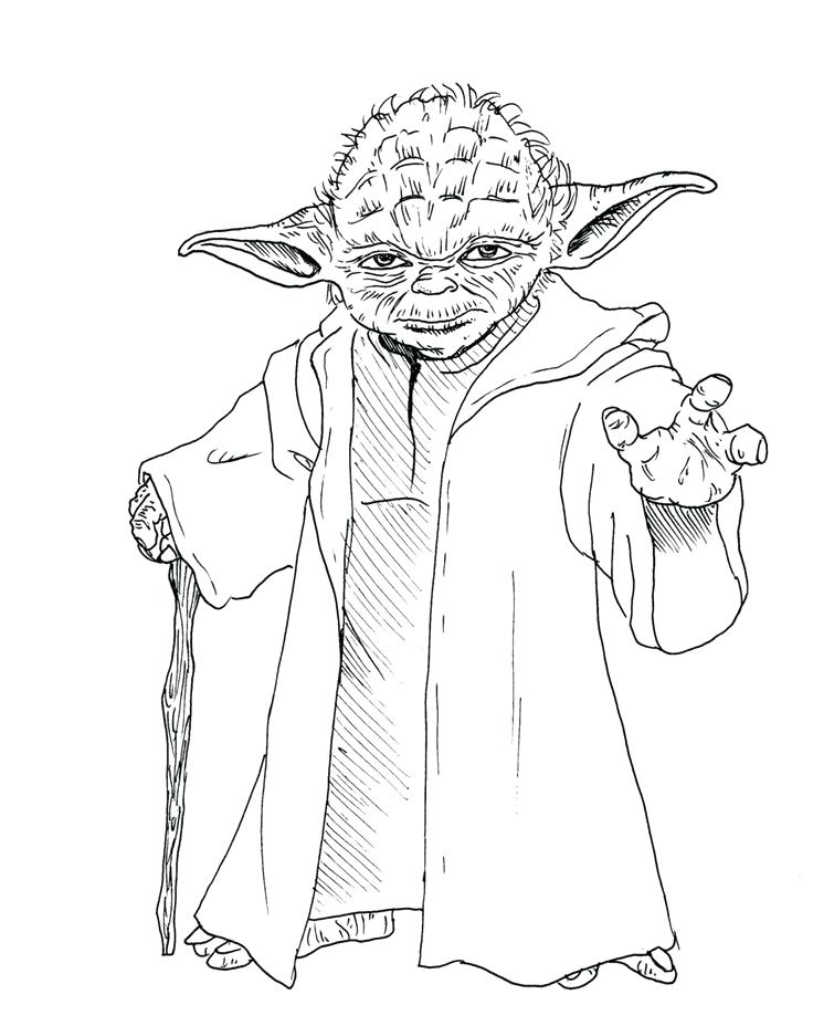 736x928 Yoda Coloring Pages For Star Wars Coloring Pages Simple Yoda