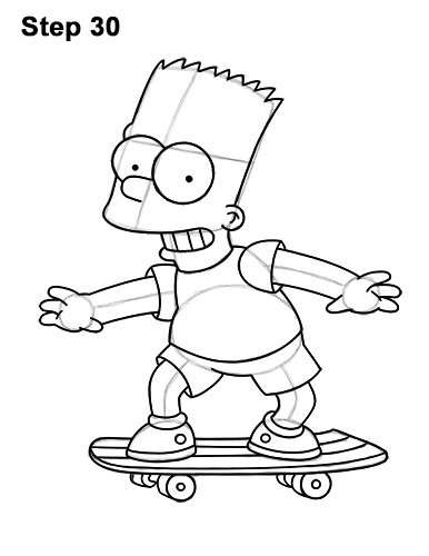 386x500 How To Draw Bart Simpson (Full Body)