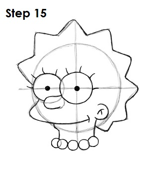 300x388 How To Draw Lisa Simpson