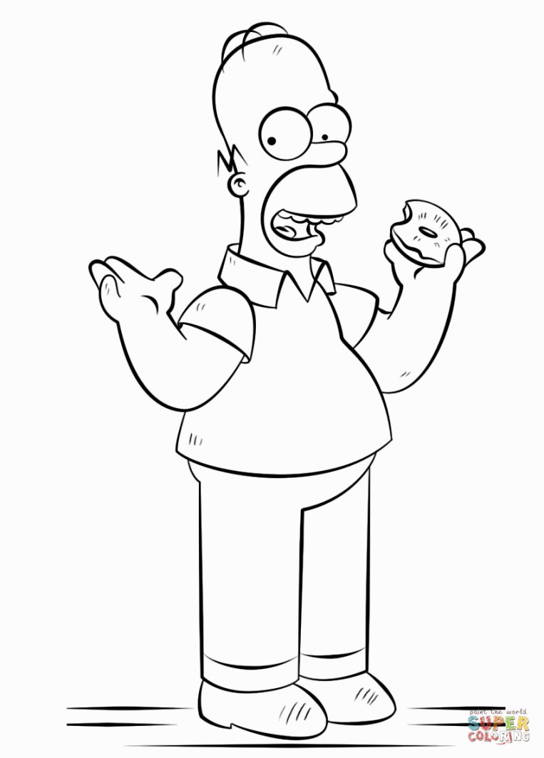 763x1064 Homer Simpson Coloring Pages Coloring Pages Homer