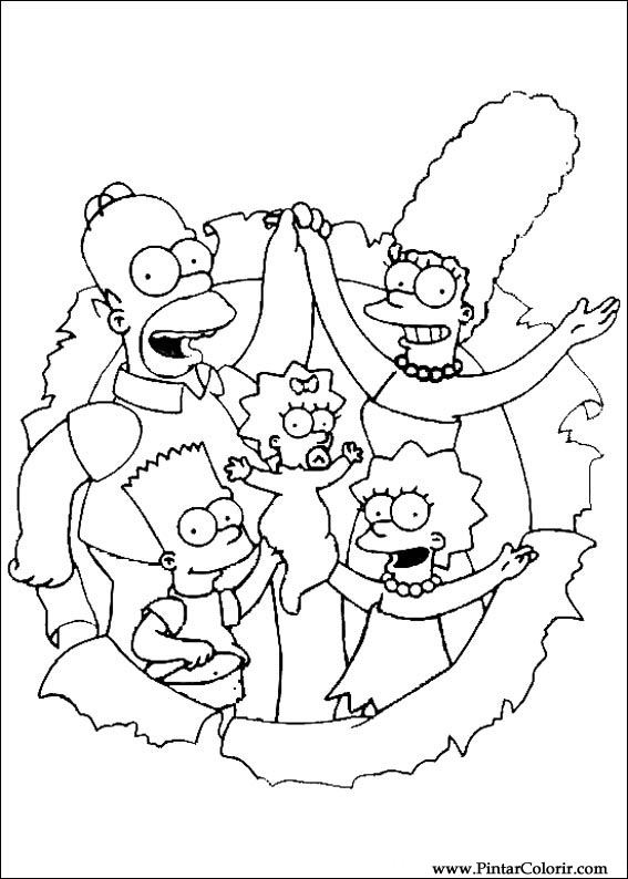 567x794 Drawings To Paint Amp Colour Simpsons