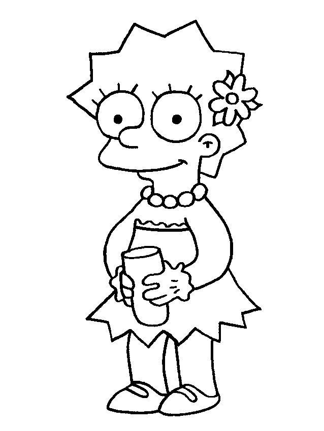 638x850 Lisa Simpson Beautiful Simpsons Coloring Pages