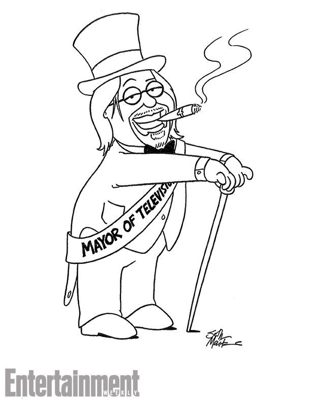 612x792 Matt Groening And Seth Macfarlane Draw Each Other