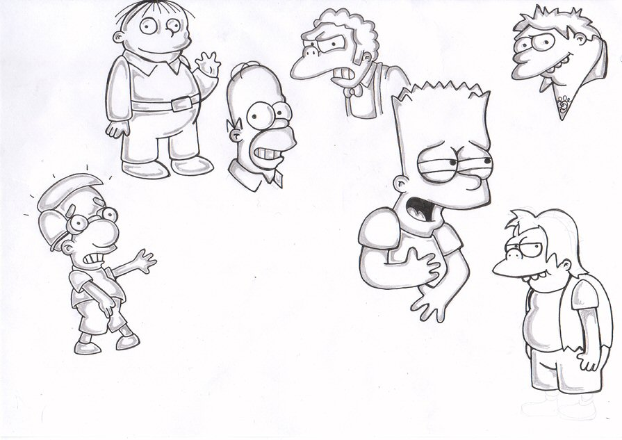 895x633 Simpsons Characters By Simpsons Fans