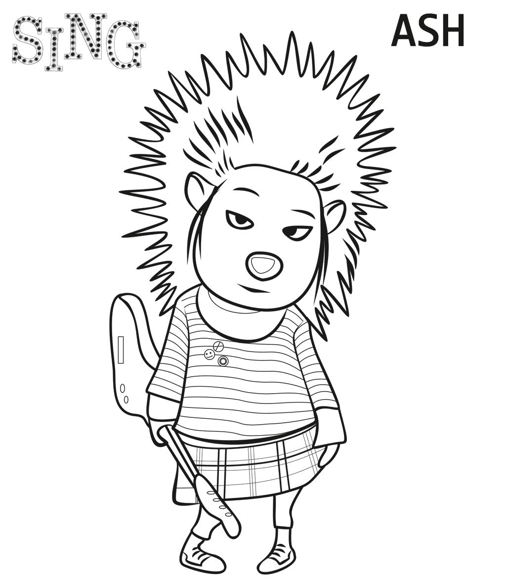 1024x1175 Movie Coloring Page Drawings ) Sing Movie, Movie