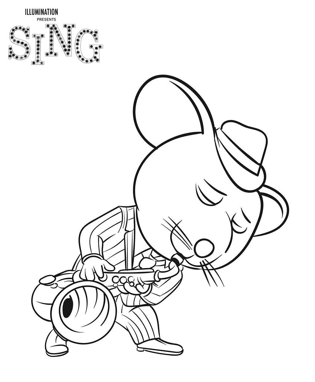 1024x1244 Sing Coloring Lesson Coloring Pages For Kids Coloring Lesson