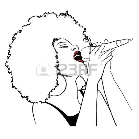 450x450 An Afro American Jazz Singer Stock Photo, Picture And Royalty Free