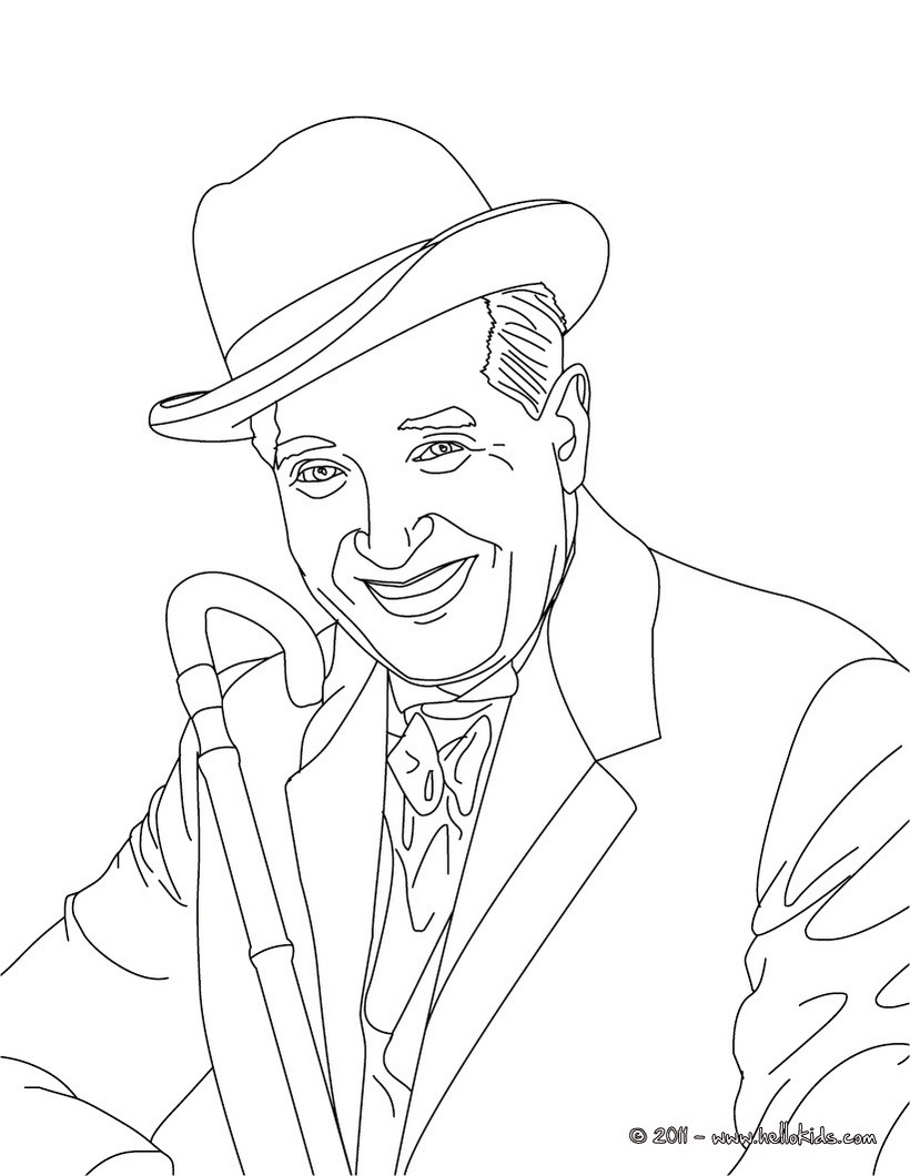 820x1060 Maurice Chevalier French Singer Coloring Pages