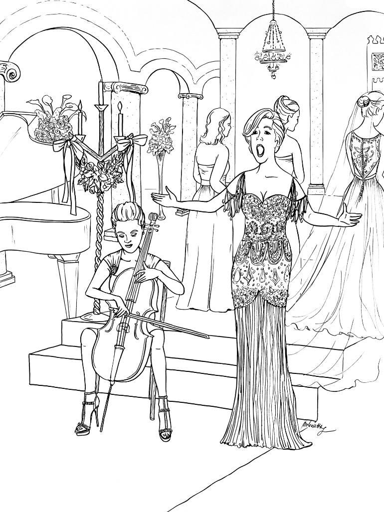 770x1027 Saatchi Art W2431 Opera Singer Drawing By Joshua Wong