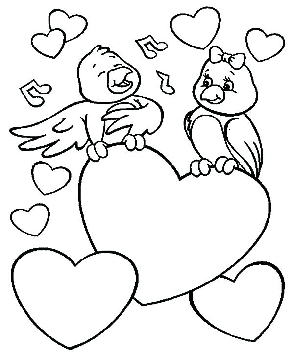 600x721 Love Bird Coloring Pages Love Birds Singing For Love Ones Coloring