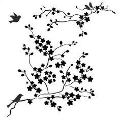 236x236 Cherry Blossom Branch Drawing