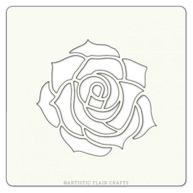 800x800 Pochoir Rose