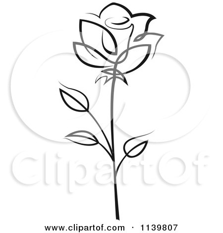 450x470 Royalty Free (Rf) Single Rose Clipart, Illustrations, Vector