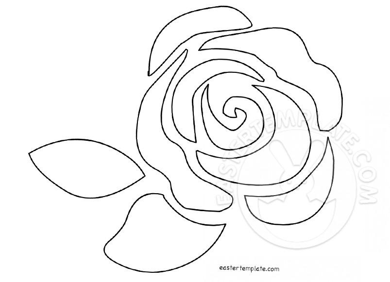 803x581 Single Rose Flower Pattern Easter Template