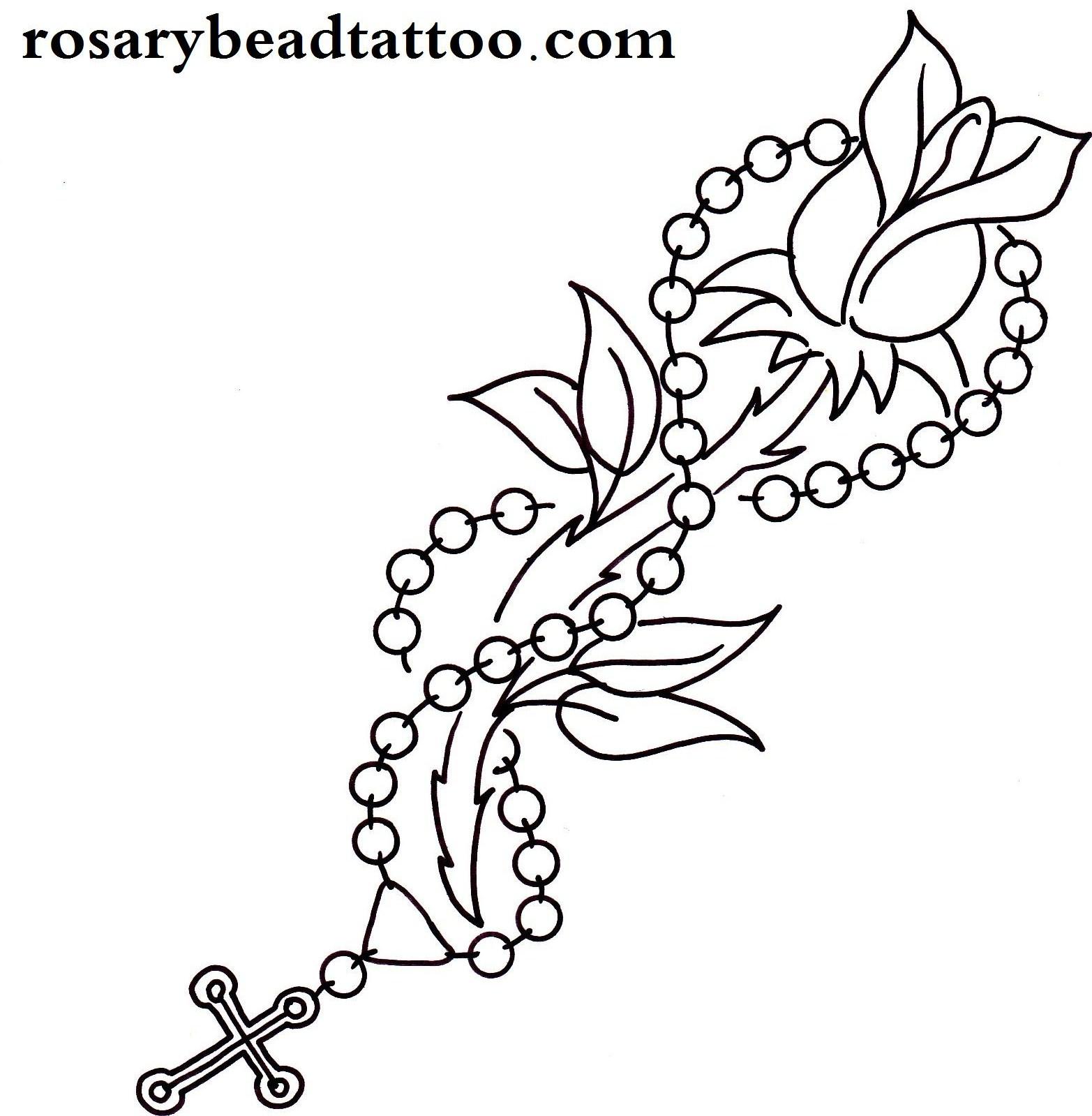 1565x1599 Rose Bud Tattoo,single Rose Tattoo,rosary Tattoo,flower Tattoo