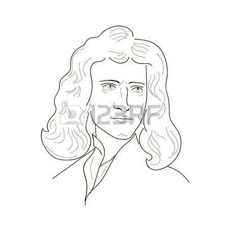 Sir Isaac Newton Drawing