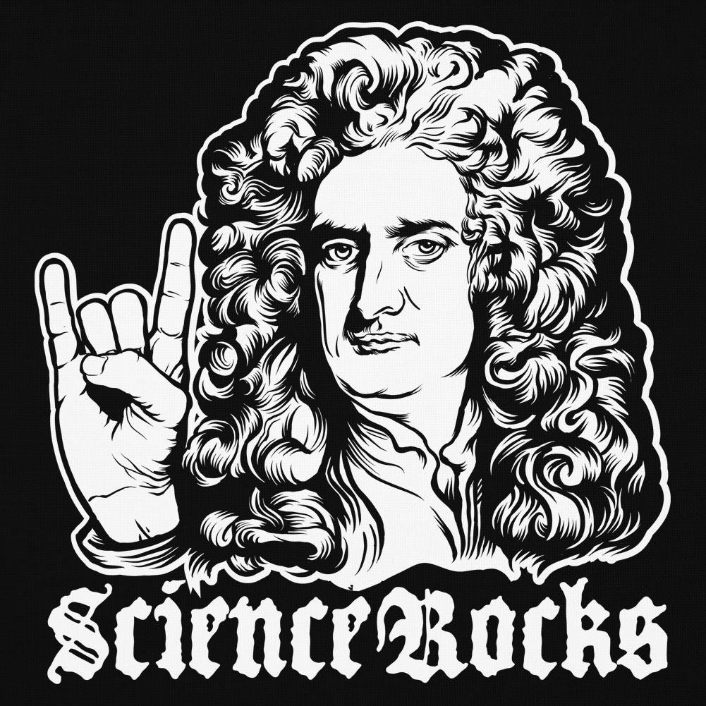 1001x1001 Sir Isaac Newton Science Rocks Baby Knit Jersey Concert Tee