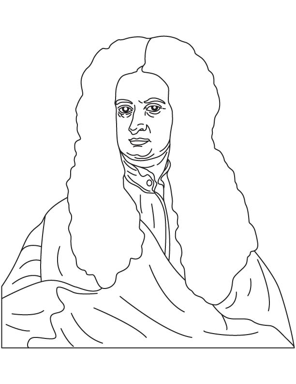 612x792 Sir Isaac Newton Coloring Page Mystery Of History 3
