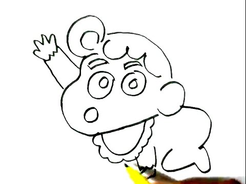 480x360 How To Draw Himawari Nohara Sister Of Shin Chan In Easy Steps
