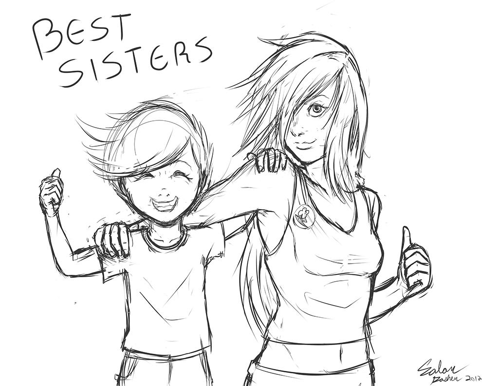 990x792 Best Sisters (Humanized Ponies) By Shinzm1911