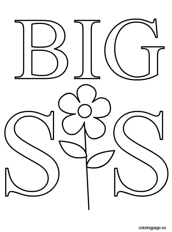 595x804 Big Sister Coloring Page