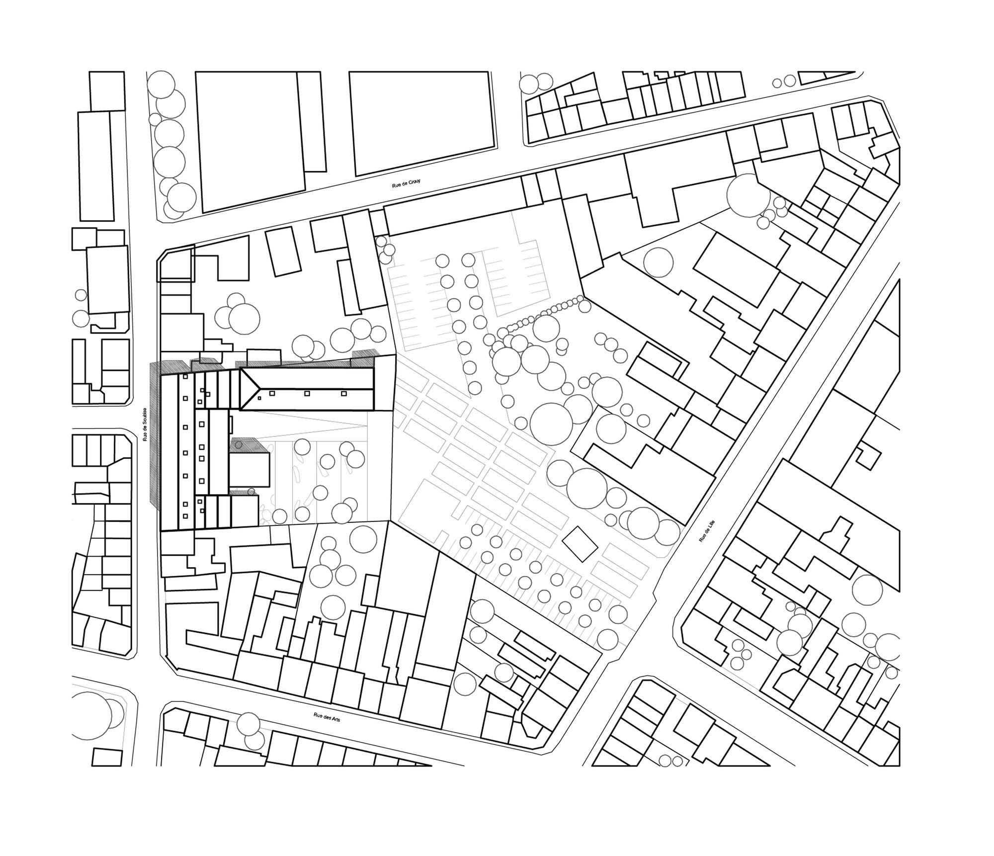 2000x1722 Gallery Of Music Academy Of Roubaix Zig Zag Architecture
