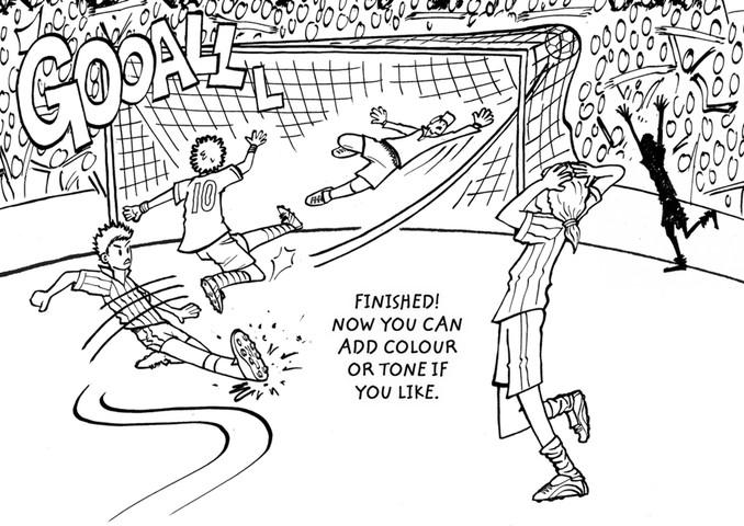 678x480 How To Draw A Footballer Cousins