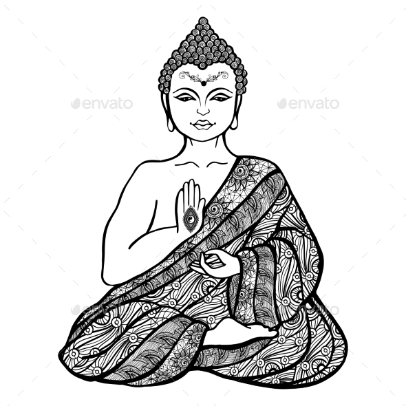 590x590 Decorative Buddha Sketch By Macrovector Graphicriver