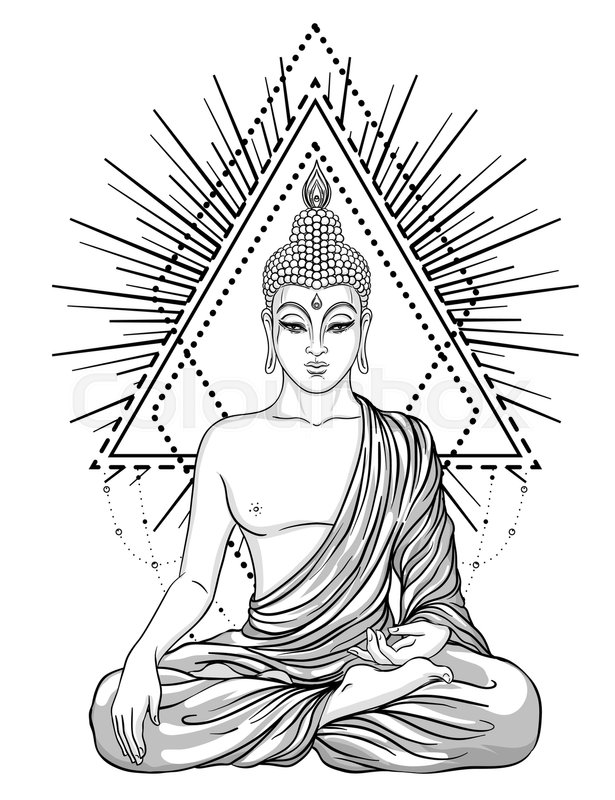 e8eea001501a8 Sitting Buddha Drawing at GetDrawings.com | Free for personal use ...