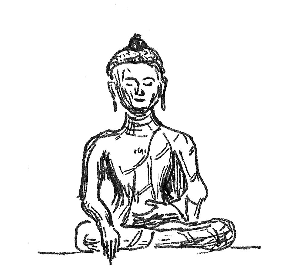 1000x922 Urban Sketchers Washington Dc Sitting Buddha