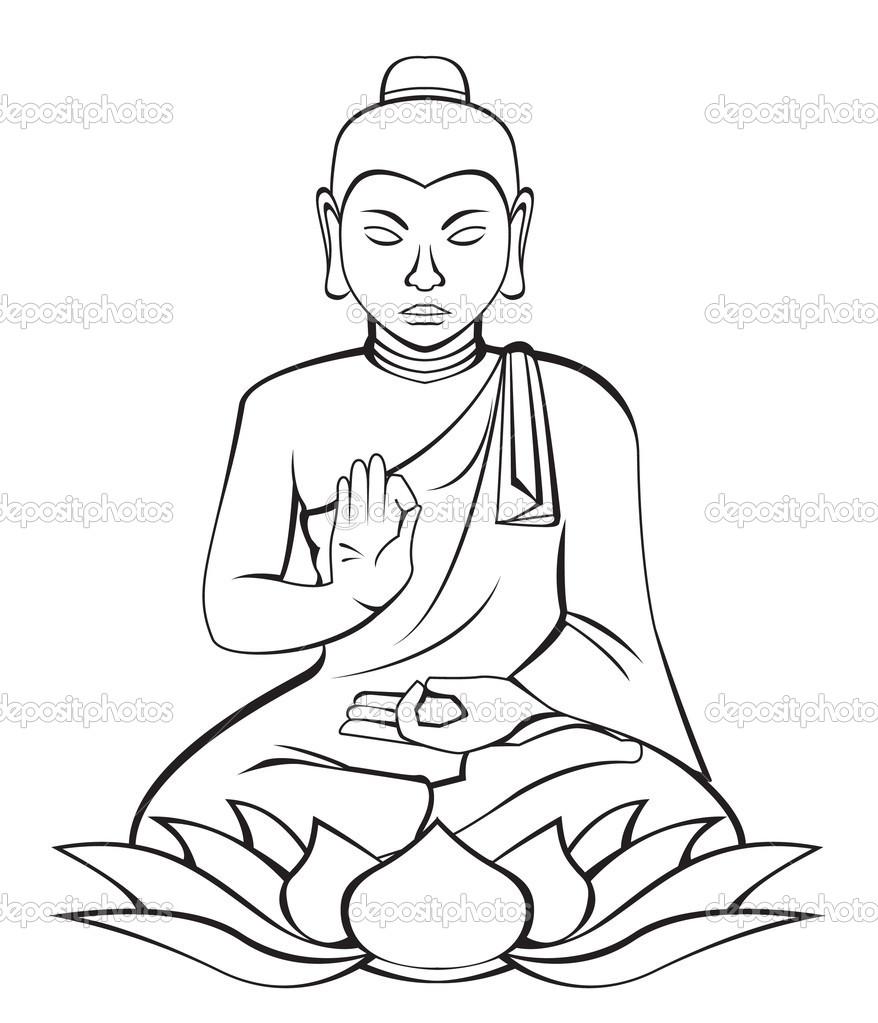 878x1023 Buddha Clip Art Drawings Coloring Amp Painting Art