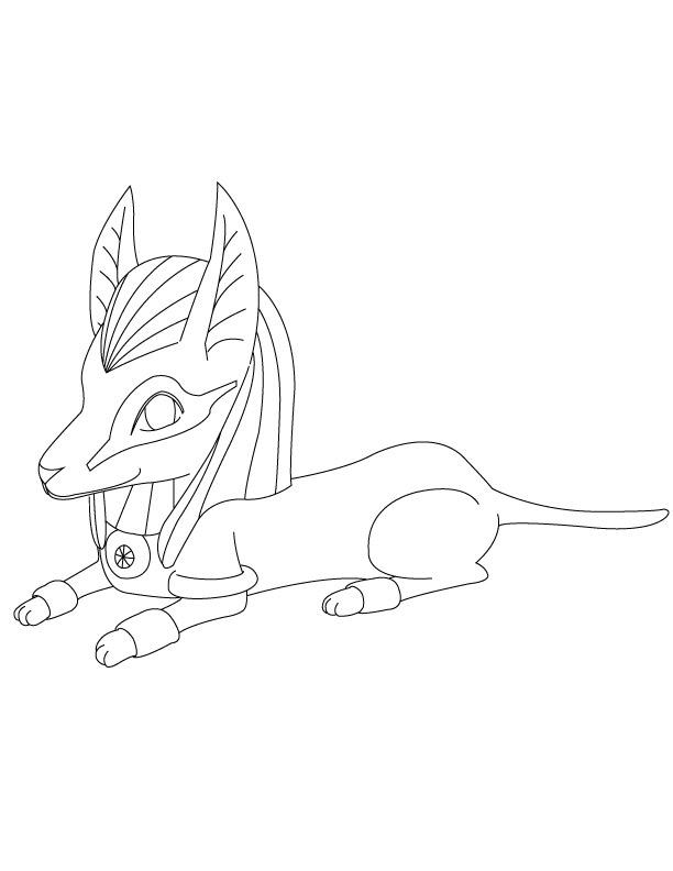 612x792 How To Draw Sitting Down Anubis