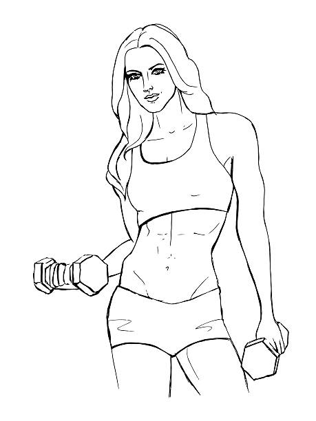 459x612 Drawing Of Six Pack Abs