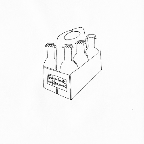 500x500 A Single Line Drawing Of A Six Pack Of Beer Also Letting You Know