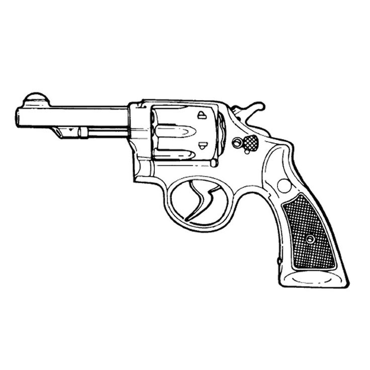 Six Shooter Drawing