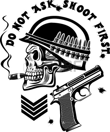 376x450 Gun Tattoo Stock Photos. Royalty Free Business Images