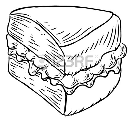 450x414 A Cupcake Hand Draw In A Retro Vintage Woodcut Engraved Or Etched