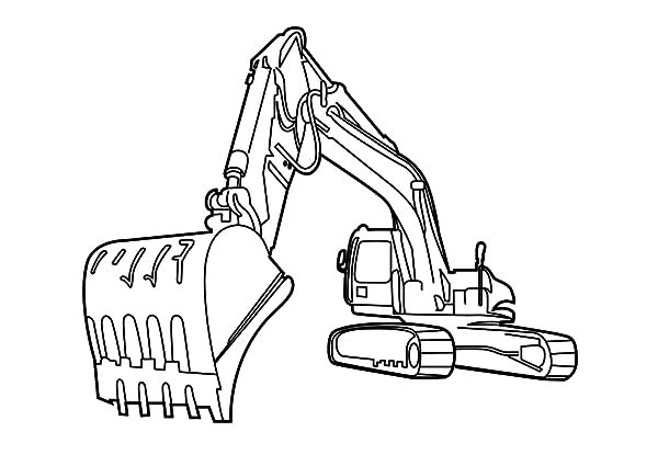 600x425 Drawing Excavator Coloring Pages Drawing Excavator Coloring Pages