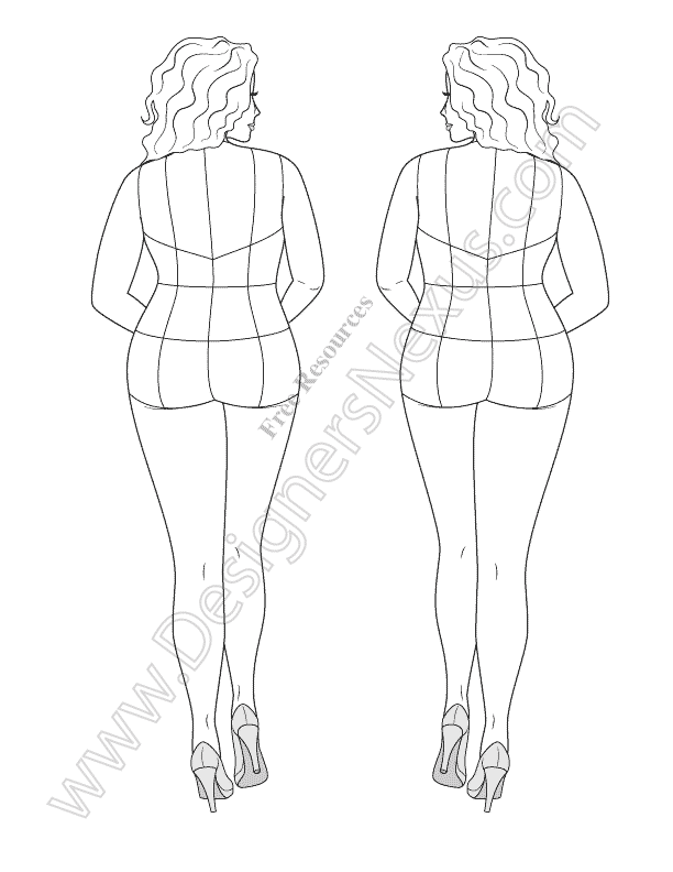 612x792 Free Download Fashion Figure Template Of Plus Size Croqui In