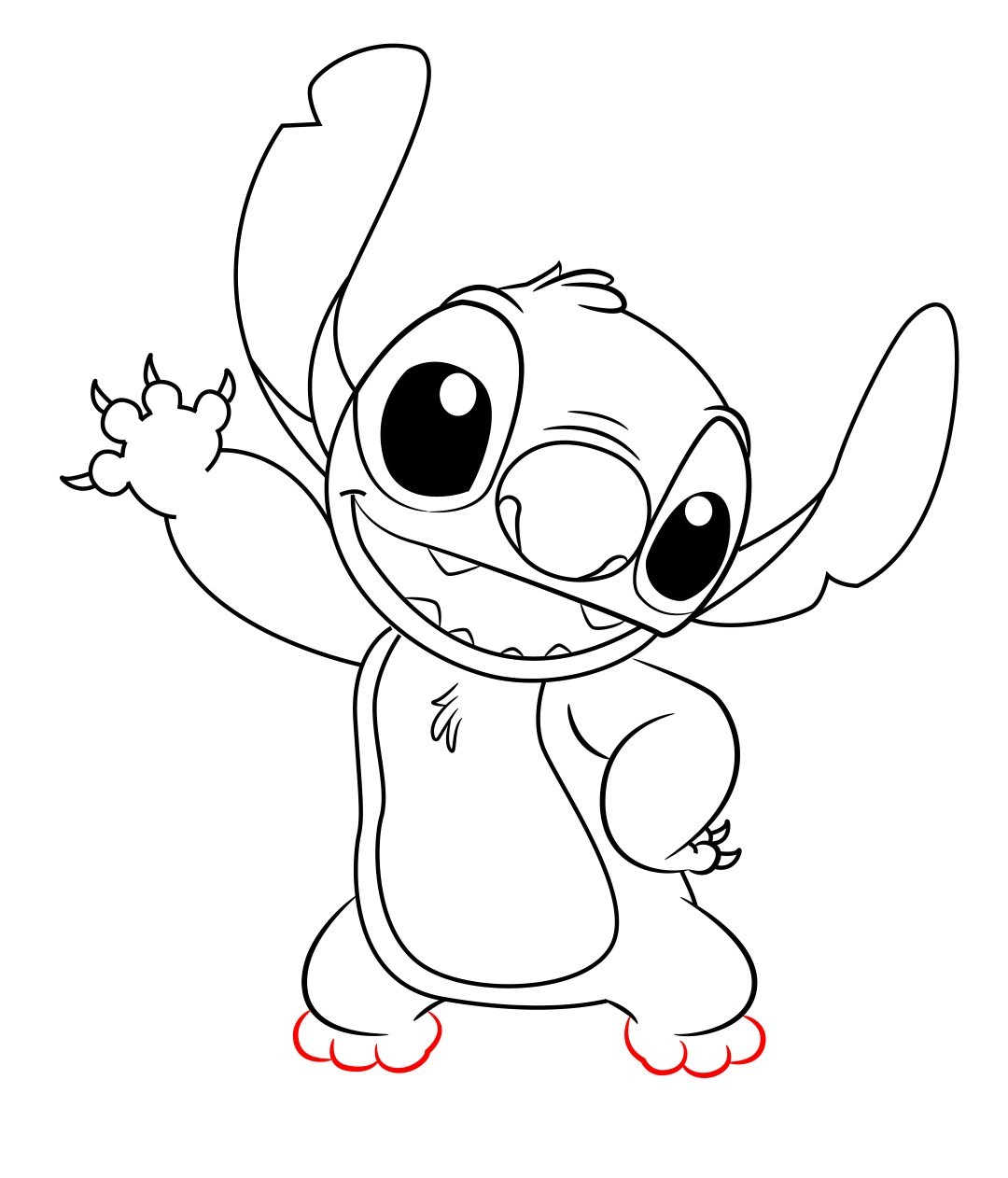 1080x1262 Stitch Cartoon Drawing Gallery Stitch Sketch Stepstep,