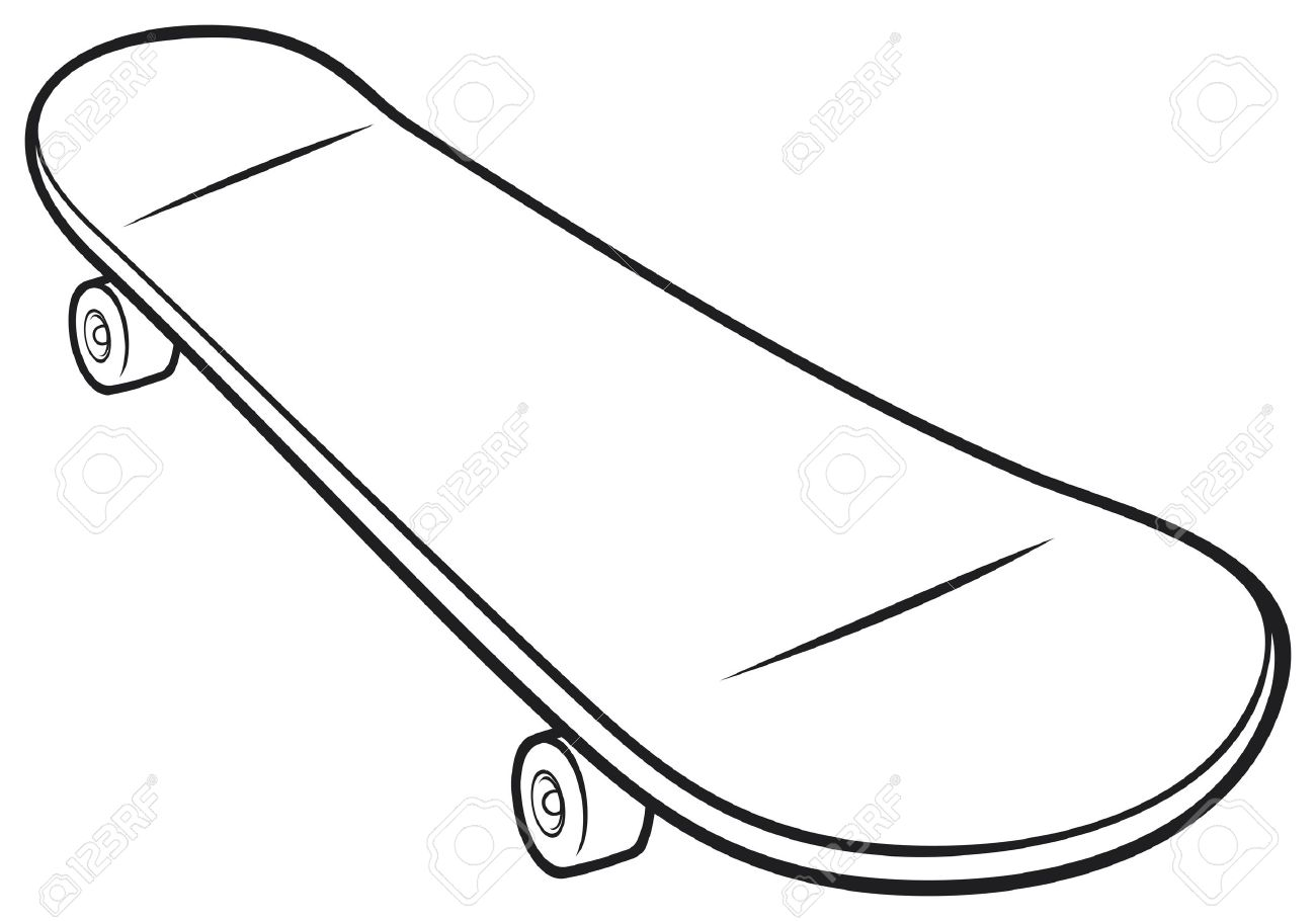 1300x910 Skateboard Vector Royalty Free Cliparts, Vectors, And Stock